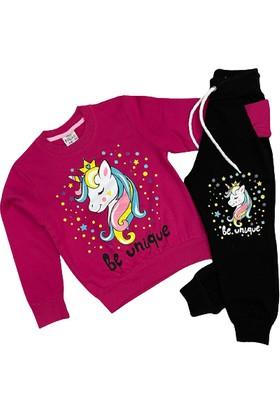 Koçak Kids Unicorn Baskılı Kız Çocuk Eşofman Takımı