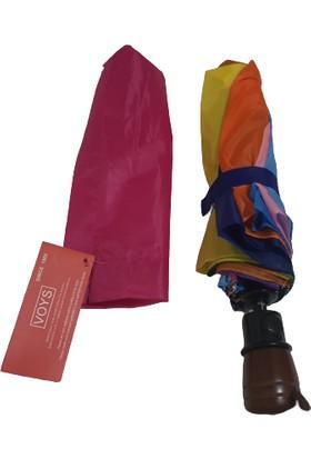 Gökkuşağı Kadın Yağmur Şemsiyesi Çanta Boy