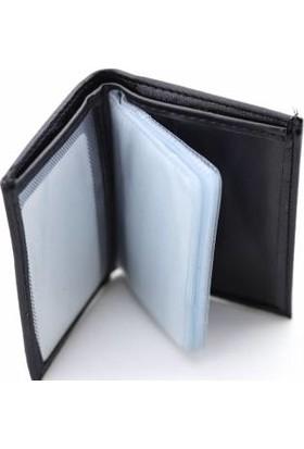 Kaya Dericilik Gerçek Deri Siyah Kartlık&cüzdan 10 Kartlık Bölmeli