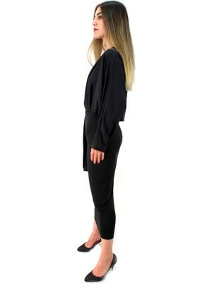 Elifim Moda Tasarım Siyah Kalem Elbise