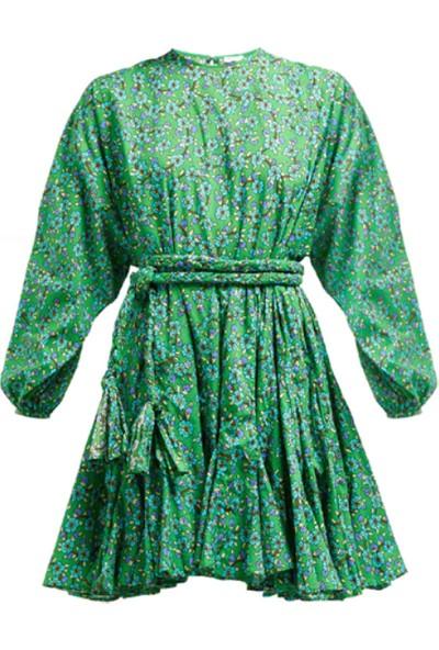 Simple Stories 21SMT0010 Yeşil Örgü Ipli Elbise