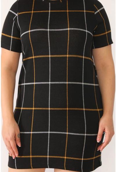 Alfa Abiye Kadın Büyük Beden Triko Mini Elbise 856