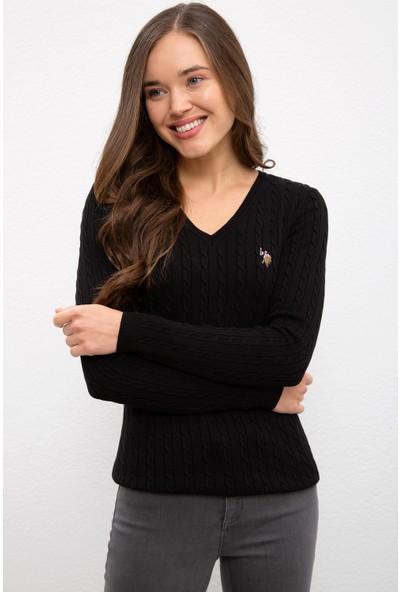 U.S. Polo Assn. Siyah Triko Kazak Basic 50224708-VR046