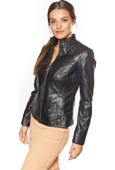 Cinzia Siyah Deri Ceket