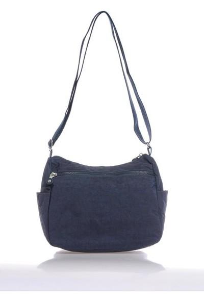 Smart Bags Kadın Su Geçirmez Krinkıl Kumaş Çok Gözlü Çapraz Askılı Omuz Çantası 27*22*12 BRC3044