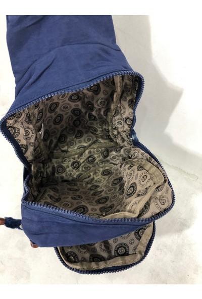 Kavi Kadın Sırt ve Bady Bags Krınkil Kumaş Çanta Ebat 30CM20CM Lacivert