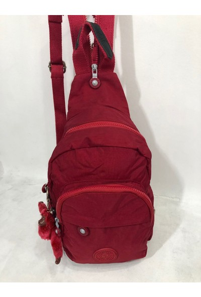 Kavi Kadın Sırt ve Bady Bags Krınkil Kumaş Çanta Ebat 30CM20CM Kırmızı