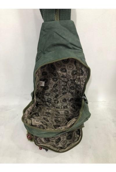 Kavi Kadın Sırt ve Bady Bags Krınkil Kumaş Çanta Ebat 30CM20CM Yeşil