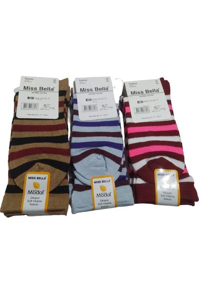 Miss Bella 6 Çift Modal Dikişsiz Soft Yıkama Kokulu Kadın Çorap