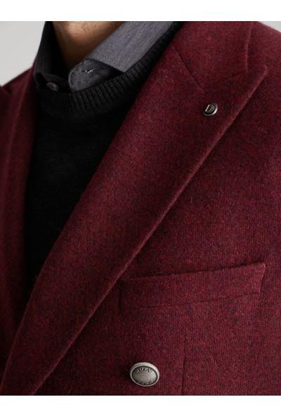 Dufy Vişne Petek Erkek Ceket Modern Fit
