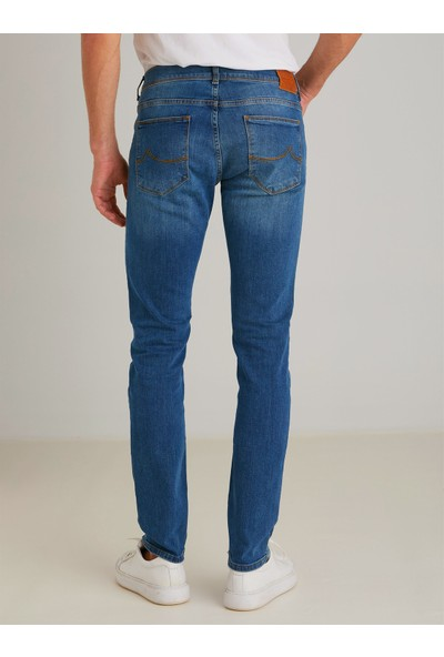 Dufy Lacivert Erkek Jeans - Regular Fit