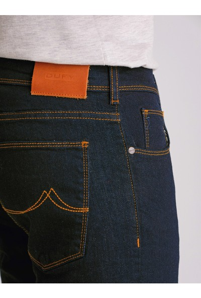 Dufy Lacivert Erkek Jeans - Slim Fit