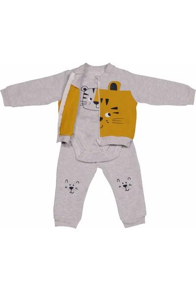 Pierre Cardin Şan Bebe Erkek Bebek Kapüşonlu 3lü Takım