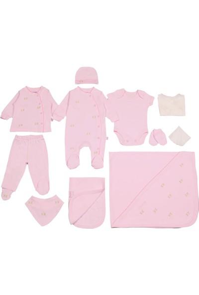 Pierre Cardin Kız Bebek Gül Desenli 10 Parça Hastane Çıkışı