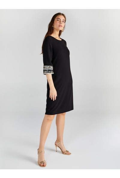 Faik Sönmez Kadın Payet Detaylı Abiye Elbise 61108