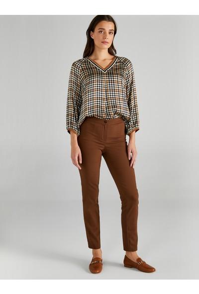 Faik Sönmez Kadın Slim Fit Klasik Pantolon 61058