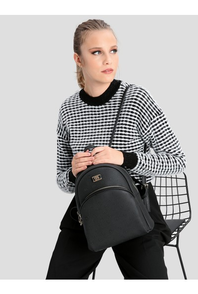 Pierre Cardin Kadın Çanta Siyah Logolu 05PO16K1167-PO S