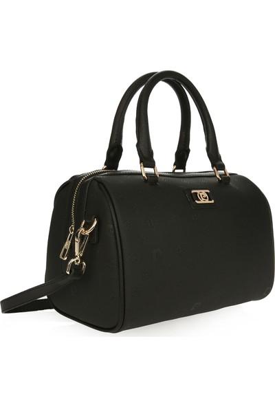 Pierre Cardin Kadın Çanta Siyah Logolu 05PO16K1172-PO S