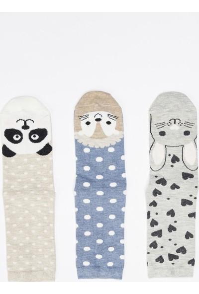 Defacto 3'lü Soket Çorap