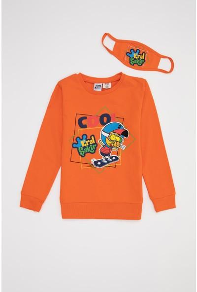 Defacto Erkek Çocuk Kral Şakir Lisanslı Sweatshirt ve Maske Takım