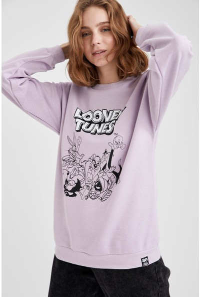 DeFacto Looney Tunes Lisanslı Bisiklet Yaka Sweatshirt S8807AZ20WN