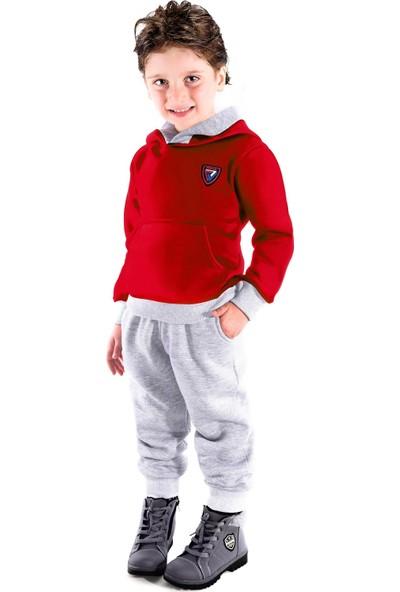 Oulabimir Dış Cepli Kapüşonlu Kışlık Bebek Pijama Takımı