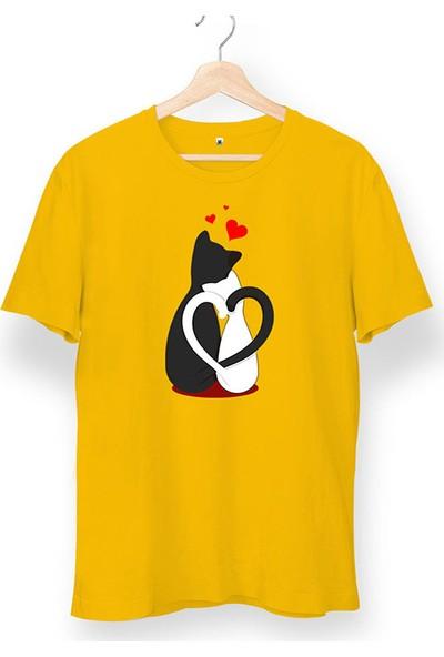 Tisho Love Cat Baskılı Unisex T-Shirt