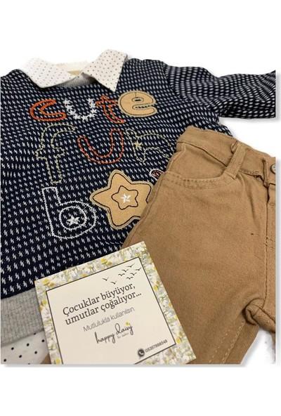 Consept Baby Gömlek -Kazak-Pantolonlu 3'Lü Erkek Bebek Takım