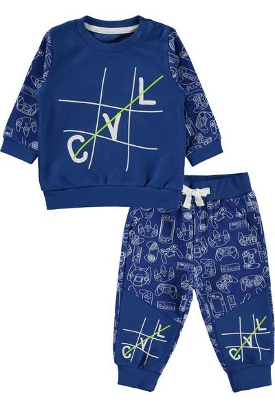 Kujju Erkek Bebek Takım 6-18 Ay Saks Mavisi
