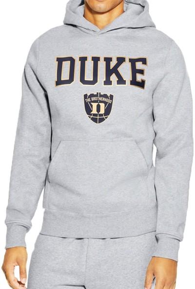 Mack Erkek Duke Gri Kapüşonlu Sweatshirt