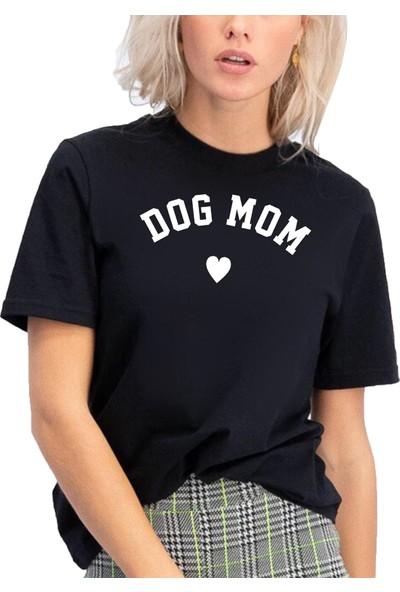 Mack Kadın Dog Mom Siyah Boyfriend T-Shirt
