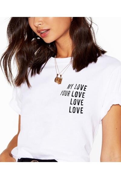 Mack Kadın Your Love Beyaz Boyfriend T-Shirt