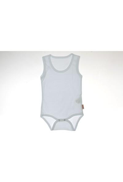 Vitmo Baby Çıt Çıtlı Askılı Beyaz Düz Body 0-3 Ay
