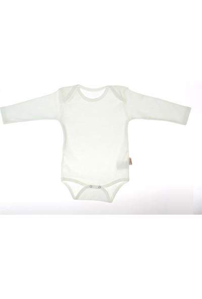 Vitmo Baby Çıt Çıtlı Uzun Kollu Ekru Düz Body 4 Yaş