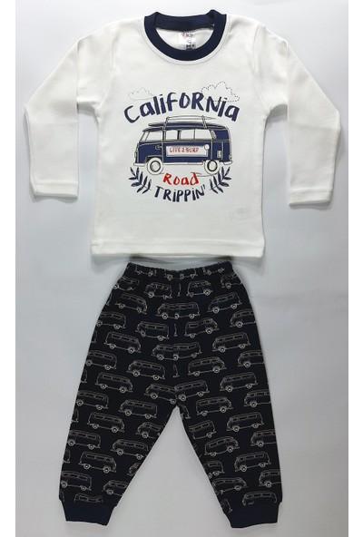 Vitmo Baby Uzun Kollu Baskılı Erkek Çocuk Pijama Takımı Minibüs Baskılı
