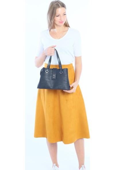 Çanta Stilim Siyah Renk Kol ve Çapraz Bayan Çanta