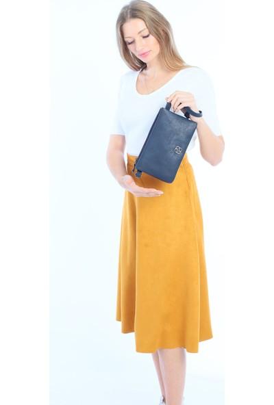 Çanta Stilim Lacivert Renk El ve Çapraz Bayan Çanta