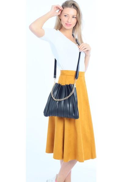 Çanta Stilim Zincir Detaylı Kol ve Çapraz Bayan Çanta