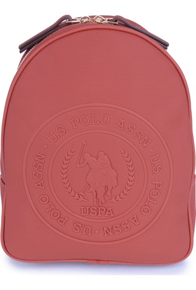 U.S. Polo Assn. Kadın Kabartma Logo Baskılı Kadın Sırt Çantası US20842