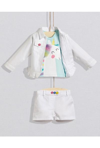Wogi Baby 3 Lü Ceket Takım Beyaz 9 - 12 Ay