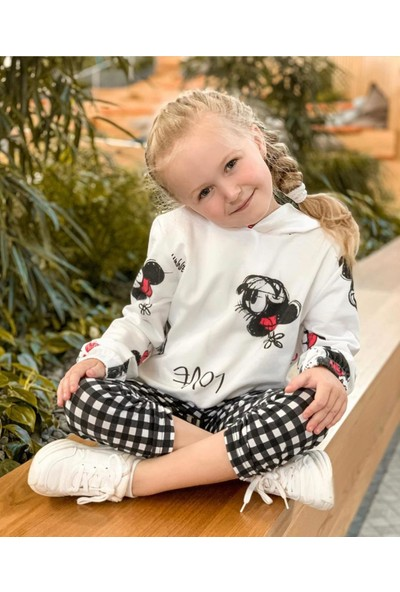Minnie Love Jakar Kışlık Takım Krem Krem 4 - 5 Yaş