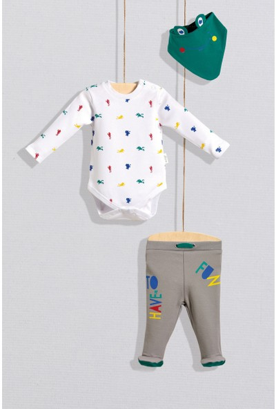 Wogi Baby 3 Lü Body Takım Renkli 3 - 6 Ay