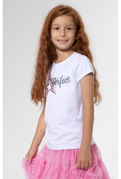 Colorinas Perfect Payetli Tshirt Kısa Kol