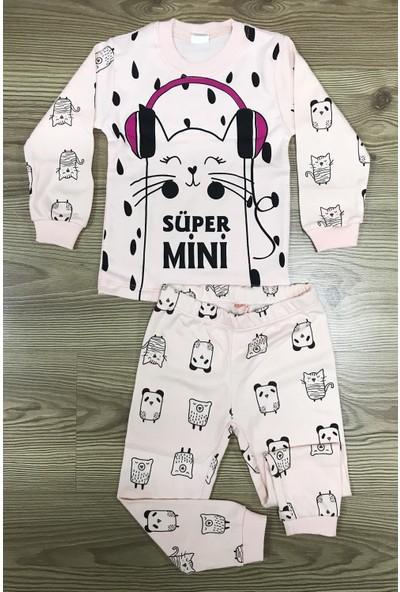 Babymoda Kulaklıklı Kedi Modelli Pijama Takımı