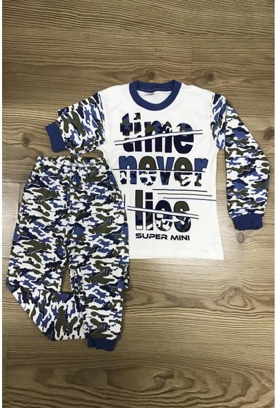 Babymoda Kamuflaj Baskılı Erkek Çocuk Pijama Takımı