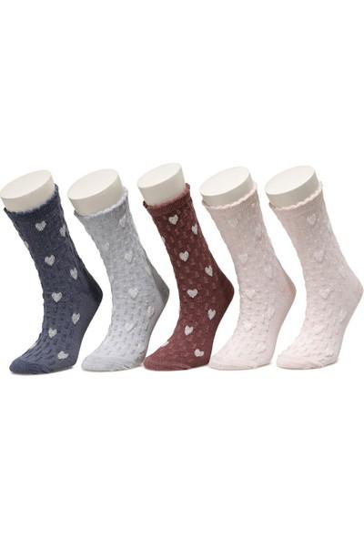 I Cool Jakar 5'li Skt-G Melanj Multi Kız Çocuk Soket Çorap