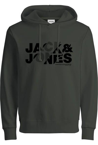 Jack Jones Erkek Kapüşonlu Exra Slim Fit Sweatshirt 12191179