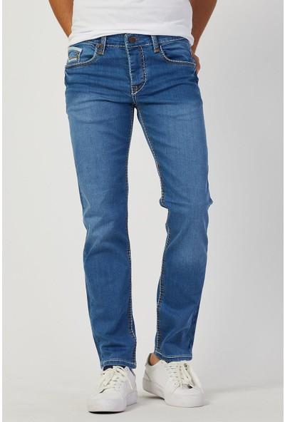 Serseri Jeans Erkek Kalın Dikişli Buz Mavisi Regular Kalıp Pantolon