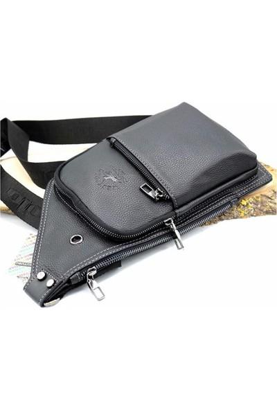Polo W Club Siyah Erkek Bady Bag Çapraz Omuz Çantası 879055200412712