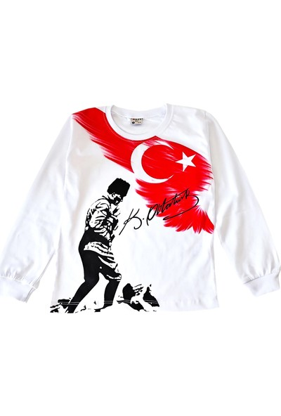 Kidsmadamiko Uzun Kollu Atatürk Kocatepe Baskılı Tişört